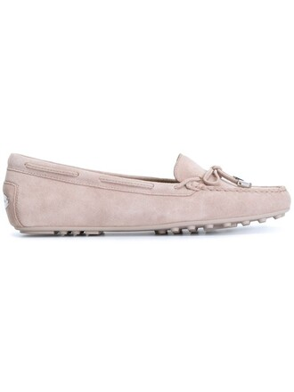 women daisy loafers leather suede grey shoes