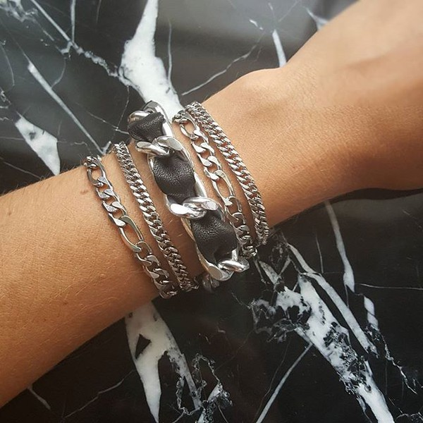 jewels stainless steel chain stainless steel bracelets chain bracelets chain jewelry layering bracelets