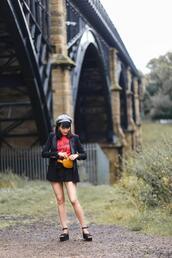 preppy fashionist,blogger,jacket,sweater,shorts,belt,bag,shoes