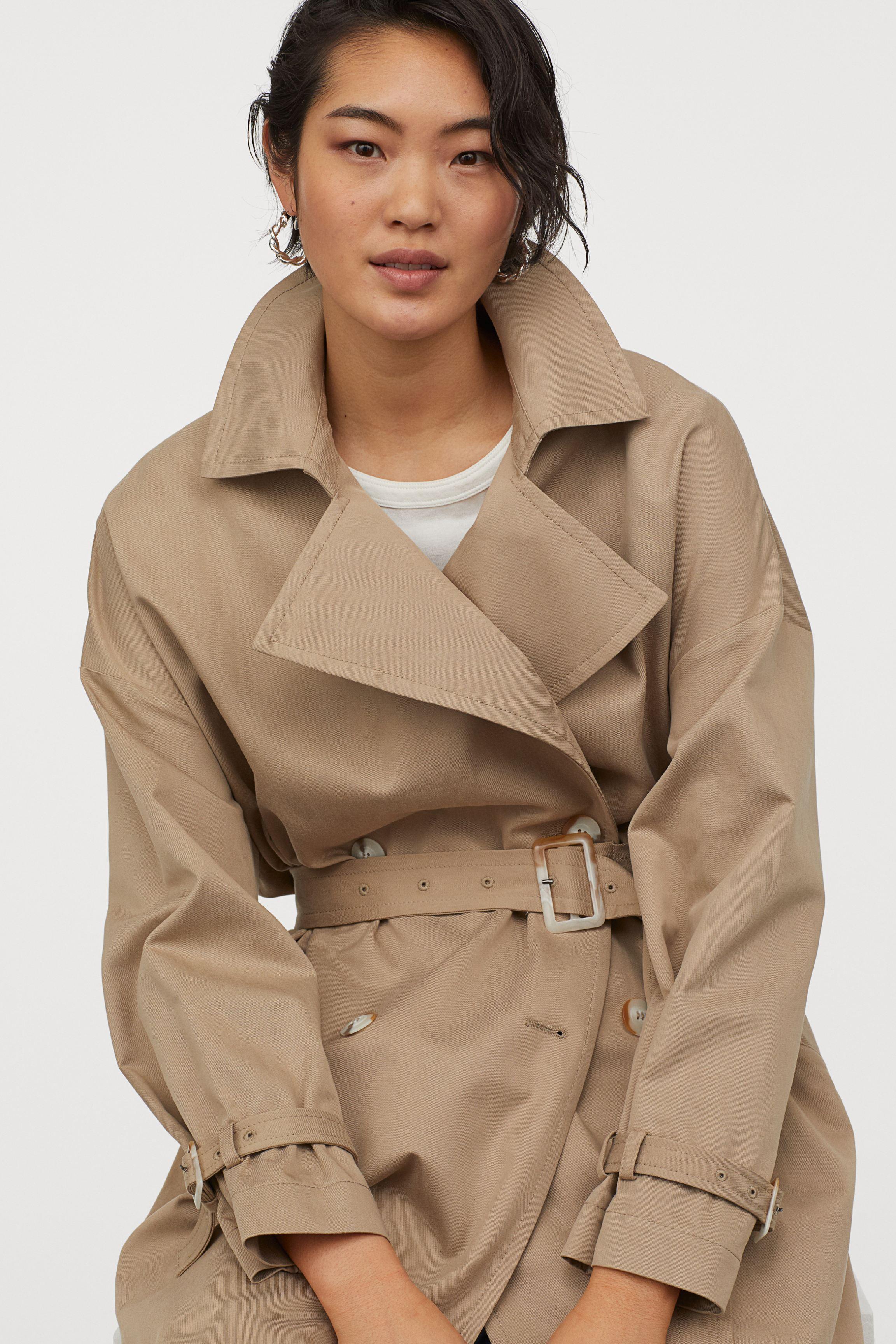 Oversized trenchcoat - Beige - Ladies | H&M GB
