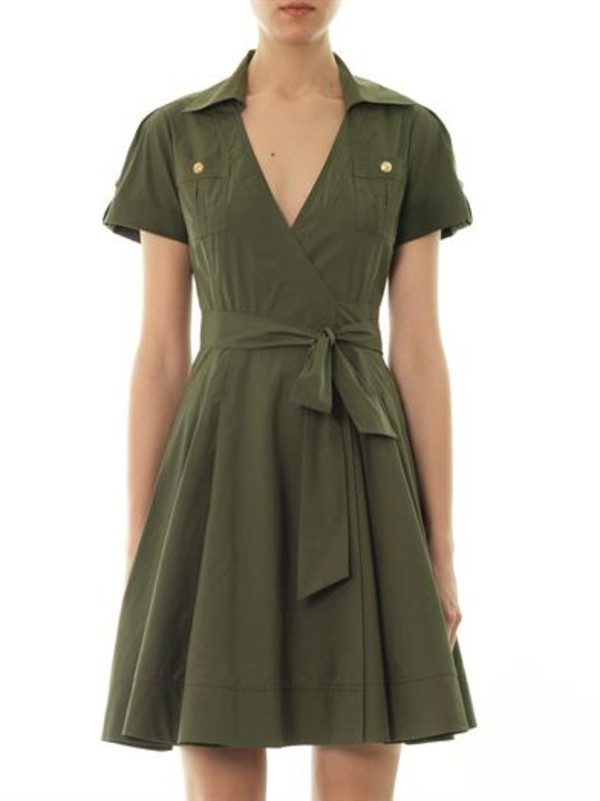 dress kaley dress mini dress khaki diane von furstenberg