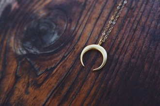 jewels moon necklace moon necklace gold metallic