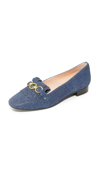 denim loafers blue shoes