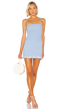 Lovers   Friends Burson Dress in Baby Blue from Revolve.com