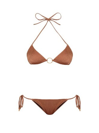 bikini triangle bikini triangle miami copper swimwear