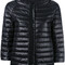 Herno three-quarters sleeve jacket, women's, size: 48, black, polyamide/goose down/polyester/polyamide