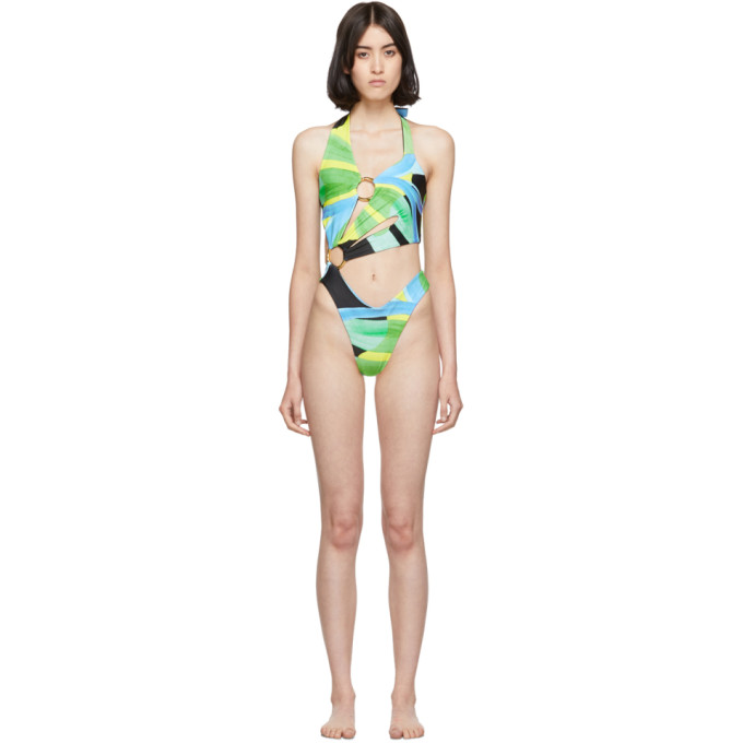 Louisa Ballou - SSENSE Exclusive Multicolor Sex Wax One-Piece Swimsuit