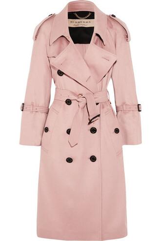 coat trench coat pastel pink pastel pink