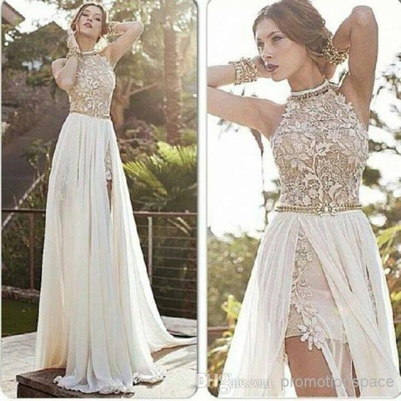 lace dress prom dress long dress evening dress formal dress special occasion dress chiffon split dress open back prom dress