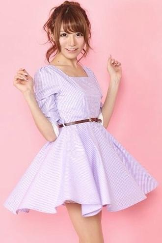 dress purple gingham kawaii cute pastel goth pastel