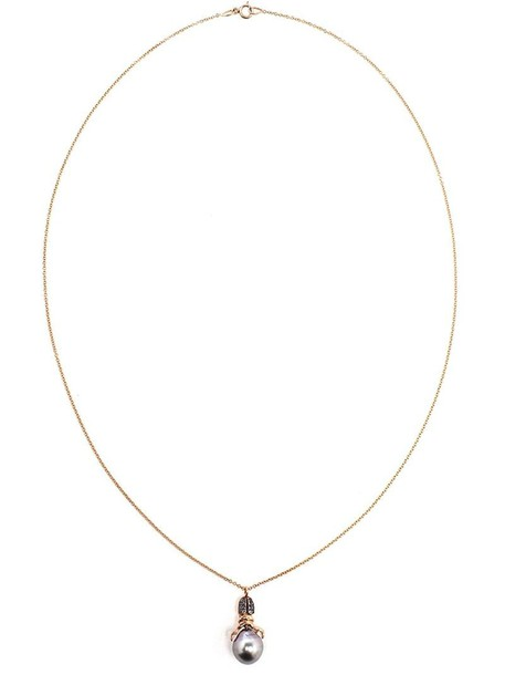 Daniela Villegas pearl necklace gold yellow purple pink jewels