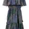 Chloé - lurex firework print off-shoulder dress - women - silk/cotton/polyester/metallized polyester - 40, blue, silk/cotton/polyester/metallized polyester