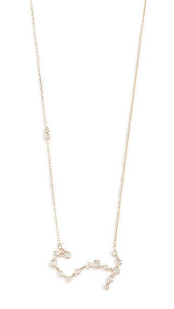 Lulu Frost 14k Gold Scorpio Necklace with White Diamonds