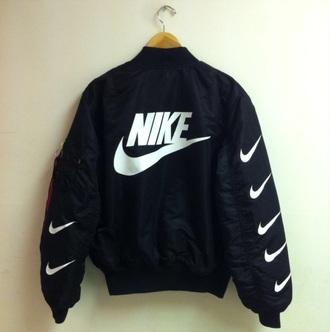 coat jacket nike jacket nike coat nike bomber nike bomber jacket supreme streetstyle streetwear bomber jacket mens menswear