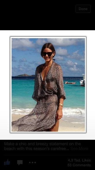 dress snake print summer dress beach maxi dress olivia palermo