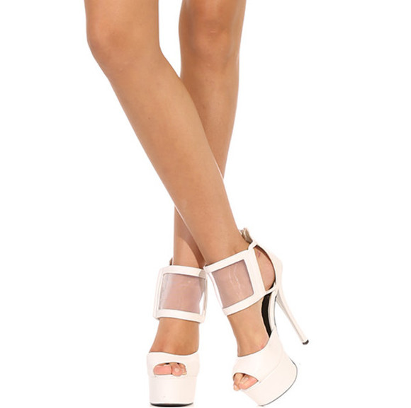 shoes white shoes white heels high heels