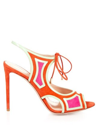 sandals leather sandals leather suede coral shoes