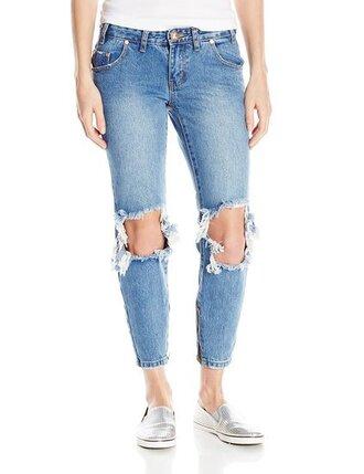 jeans distressed denim destroyed skinny jeans