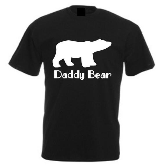 t-shirt black tee shirt daddy bear mens t-shirt funny tshirt
