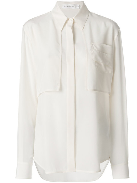 Victoria Beckham shirt women white silk top