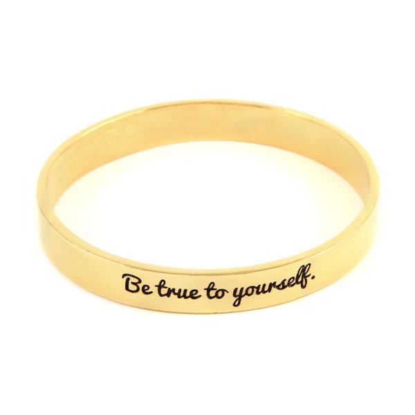 Ettika :: Bracelets :: Bangles :: Be True to Yourself Gold Bangle
