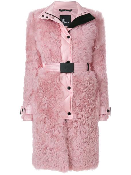 coat fur women shell purple pink