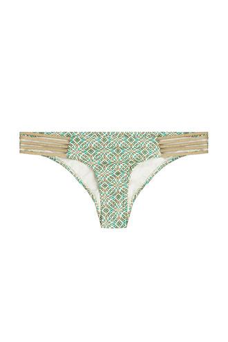 bikini bikini bottoms strappy multicolor swimwear