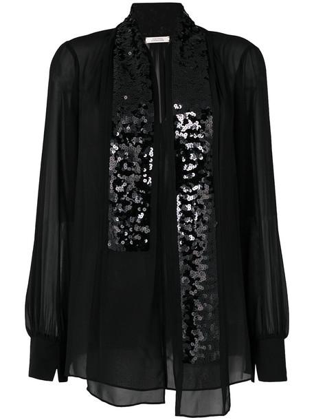 Dorothee Schumacher blouse women embellished black silk top