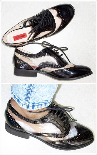 shoes derbies transparent shoes