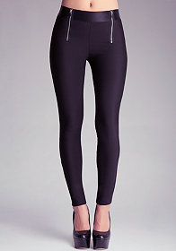 bebe | Contrast Ankle Leggings - Bottoms - View All