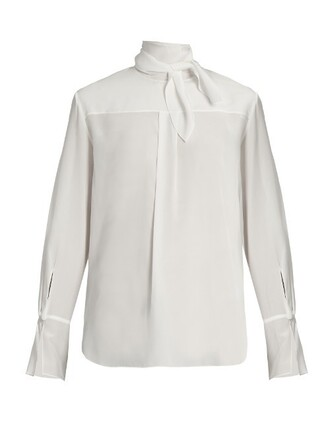 blouse silk white top