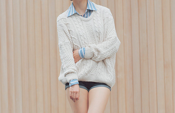 comfy oversized sweater knitted sweater cute sweaters warm sweater creme knit sweater