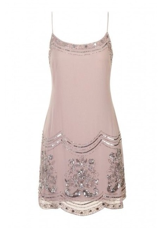 dress slip dress embellished blush pink blush dress short dress pink slip dress glitter dress sparkly dress sparkle
