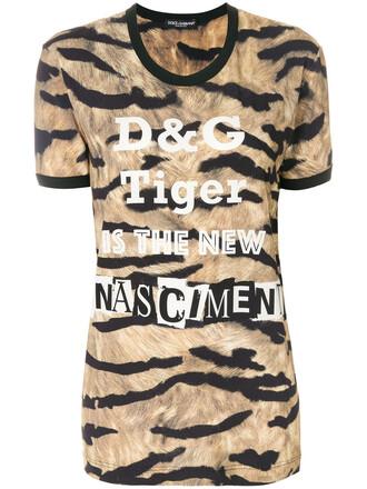 t-shirt shirt women new spandex tiger tiger print print top