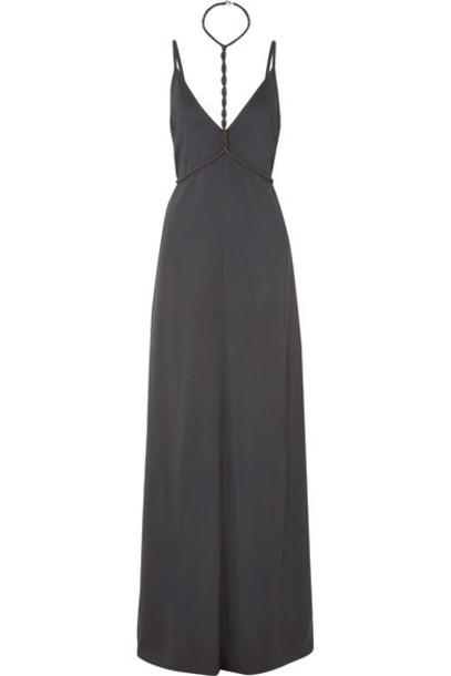BRUNELLO CUCINELLI gown embellished silk dress
