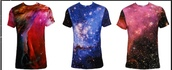 casual,print,galaxy print,t-shirt,space,blue t-shirt,red t-shirt,black t-shirt,white t-shirt,purple t-shirt,top