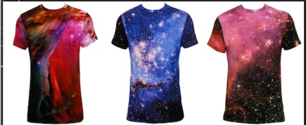 casual print galaxy print t-shirt space blue t-shirt red t-shirt black t-shirt white t-shirt purple t-shirt top