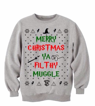 sweater harry potter sweatshirt grey sweater harry potter sweatshirt christmas sweater christmas