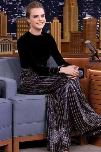 pants top wide-leg pants cara delevingne sequins glitter