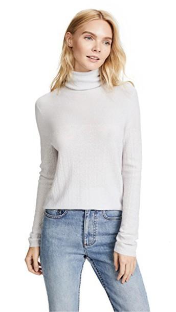 TSE Cashmere turtleneck silver sweater