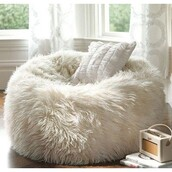 bag,fur beanbag,home accessory,white,bean bag,pillow,home decor,cozy