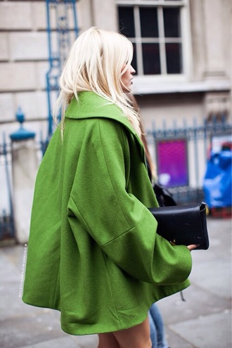 coat green colorblock