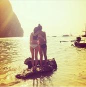 swimwear,black bikini,bikini,strappy bikini,caged swimsuit,summer holidays,bff