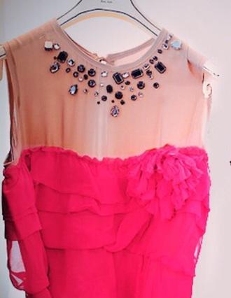 dress pink dress sparkle dress evening dress sparkly dress prom dress long dress long prom dress cocktail dress