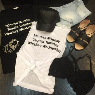 t-shirt angl lace black white black and white quote on it love quotes drinking shirts tank top graphic tee monday tuesday mimosa tequila whiskey denim edgy grunge grunge t-shirt black bra black bralette black hat outift outfit outfit idea layout instagram