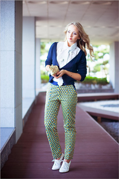 Vintage Argyle Printed Pants | Choies