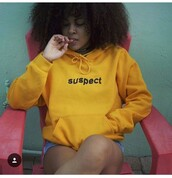 sweater,sweatshirt,tumblr,suspect,cute,hoodie,yellow
