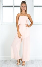 jumpsuit,shanghaitrends,chiffon,ss16,pink,pink jumpsuit,boho,boho chic
