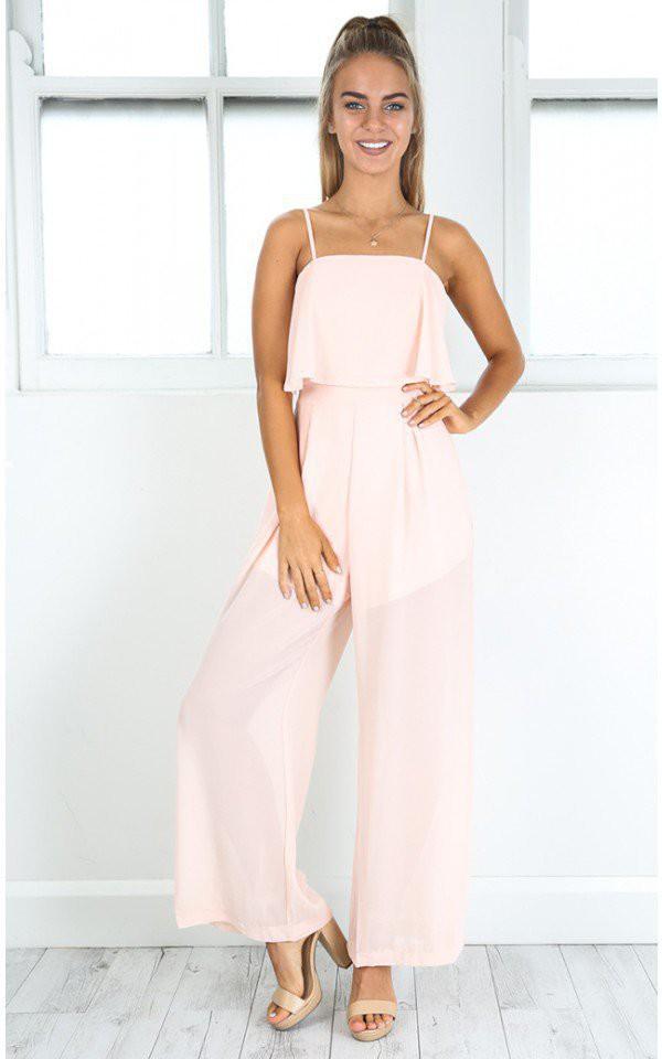 jumpsuit shanghaitrends chiffon ss16 pink pink jumpsuit boho boho chic