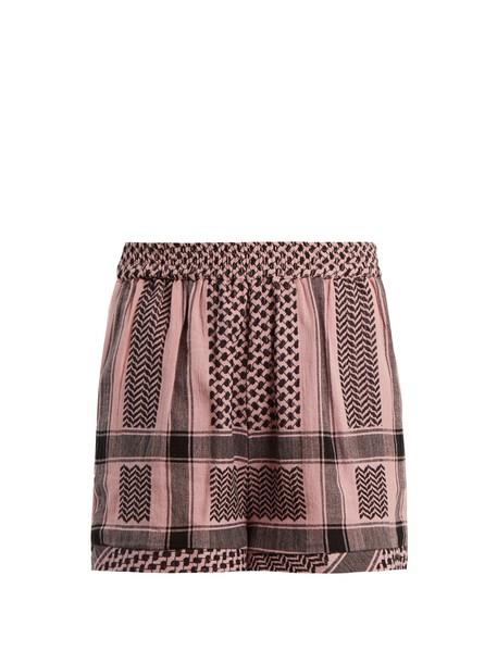 CECILIE COPENHAGEN shorts high jacquard cotton light pink light pink